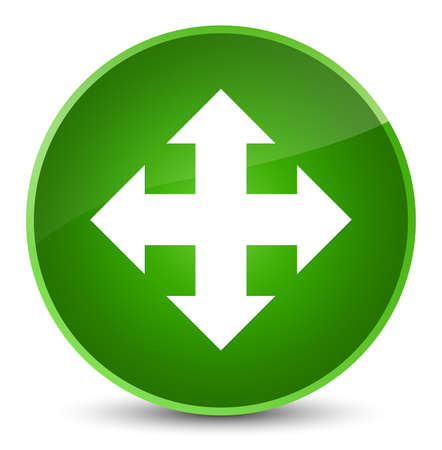 Move icon isolated on elegant green round button abstract illustration Stock Photo