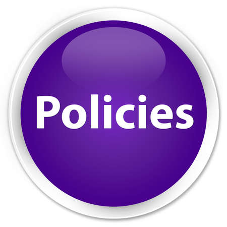 Policies isolated on premium purple round button abstract illustration