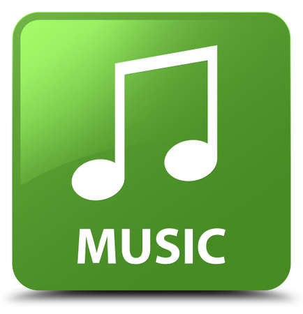 Music (tune icon) isolated on soft green square button abstract illustration Stock Photo