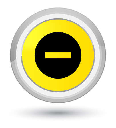Cancel icon isolated on prime yellow round button abstract illustration Stock Photo