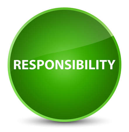 Responsibility isolated on elegant green round button abstract illustration Stock Photo