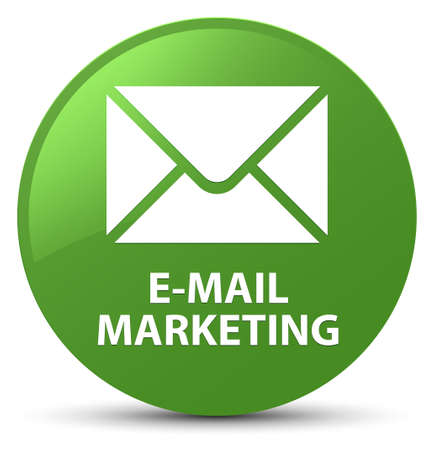 E-mail marketing isolated on soft green round button abstract illustration Stock Photo