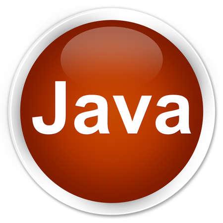 プレミアムブラウン丸いボタンの抽象的なイラストで隔離されたJava 写真素材