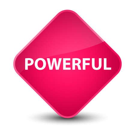 Powerful isolated on elegant pink diamond button abstract illustration Stock Photo