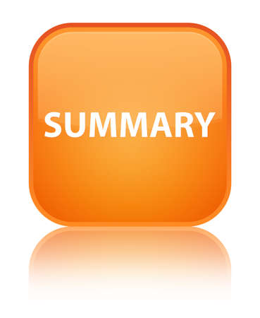 Summary isolated on special orange square button reflected abstract illustration Stock Photo