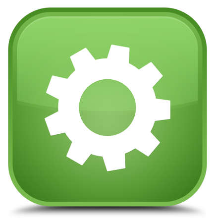 Process icon isolated on special soft green square button abstract illustration Stock Photo