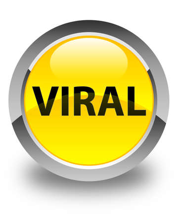 Viral isolated on glossy yellow round button abstract illustration