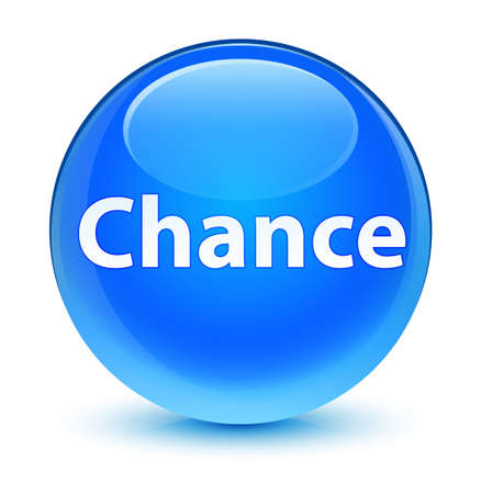 Chance isolated on glassy cyan blue round button abstract illustration