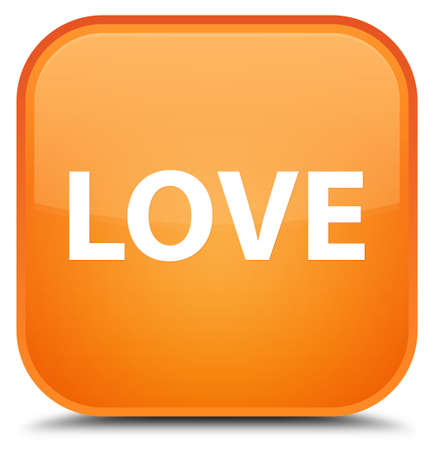 Love isolated on special orange square button abstract illustration