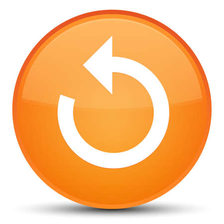 Refresh arrow icon isolated on special orange round button abstract illustration Stock Photo