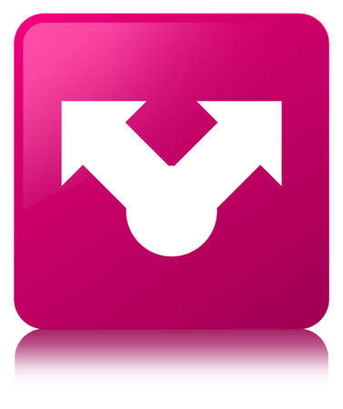 Share icon isolated on pink square button reflected abstract illustration