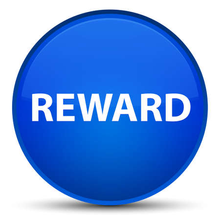 Reward isolated on special blue round button abstract illustration