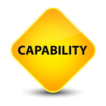 potential: Capability isolated on elegant yellow diamond button abstract illustration