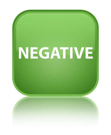Negative isolated on special soft green square button reflected abstract illustration