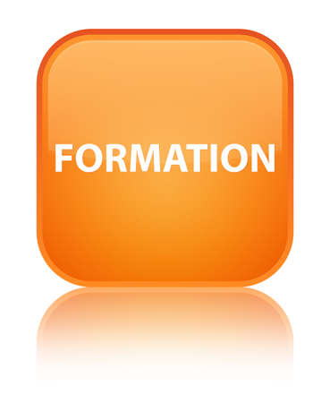 Formation isolated on special orange square button reflected abstract illustration Stock Photo
