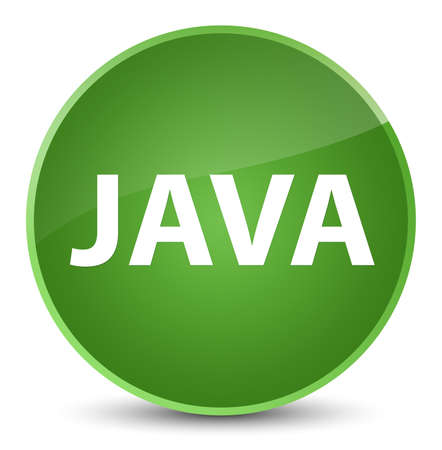 programming code: Java isolated on elegant soft green round button abstract illustration Stock Photo