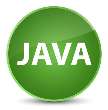 Java isolated on elegant soft green round button abstract illustration Stock Photo