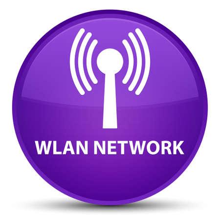 Réseau WLAN isolé sur illustration abstraite spéciale bouton rond violet Banque d'images - 89922296