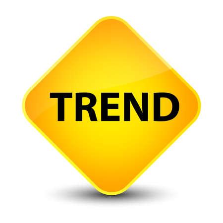 drift: Trend isolated on elegant yellow diamond button abstract illustration