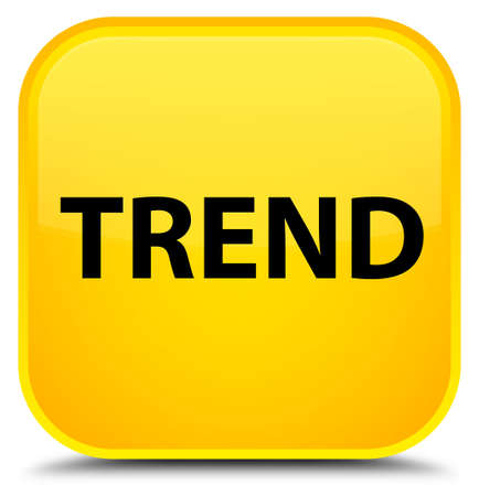 Trend isolated on special yellow square button abstract illustration