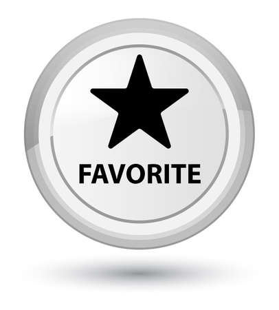 Favorite (star icon) isolated on prime white round button abstract illustration