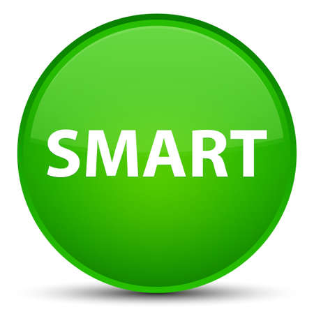 Smart isolated on special green round button abstract illustration Imagens