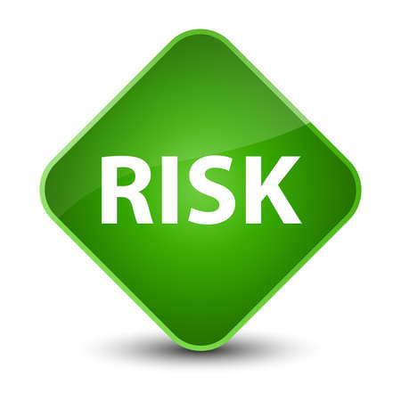 Risk isolated on elegant green diamond button abstract illustration