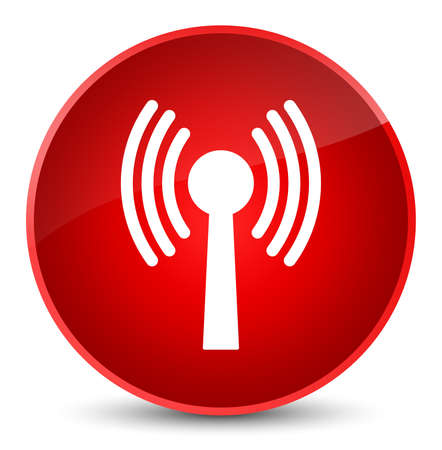 Wlan network icon isolated on elegant red round button abstract illustration Stock Photo