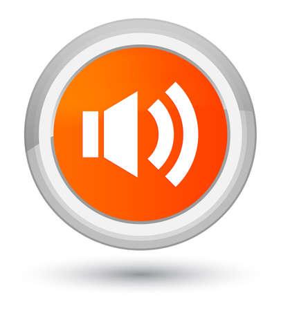 Volume icon isolated on prime orange round button abstract illustration