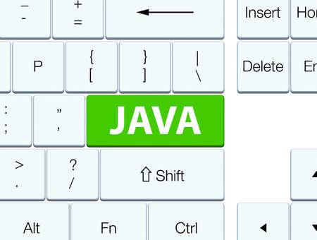Java は、ソフトグリーンのキーボード ボタンの抽象図で分離されています。 写真素材