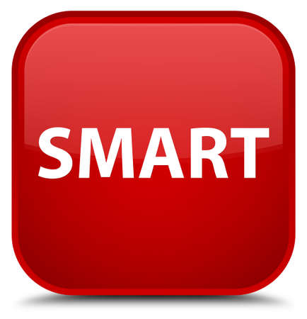 Smart isolated on special red square button abstract illustration Imagens - 89592056