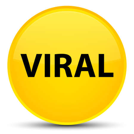 Viral isolated on special yellow round button abstract illustration