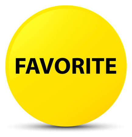Favorite isolated on yellow round button abstract illustration