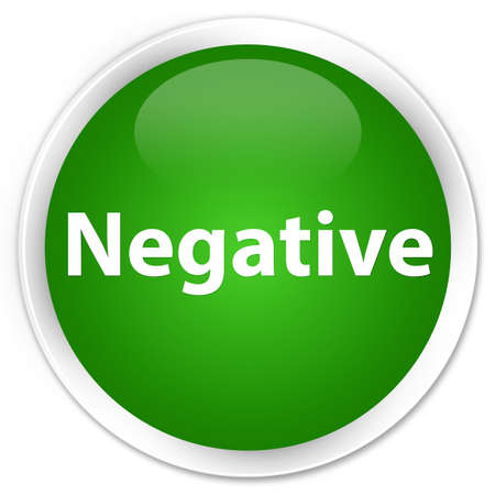 Negative isolated on premium green round button abstract illustration Stock Photo