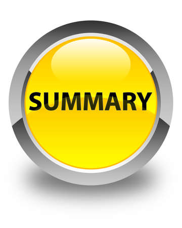 Summary isolated on glossy yellow round button abstract illustration