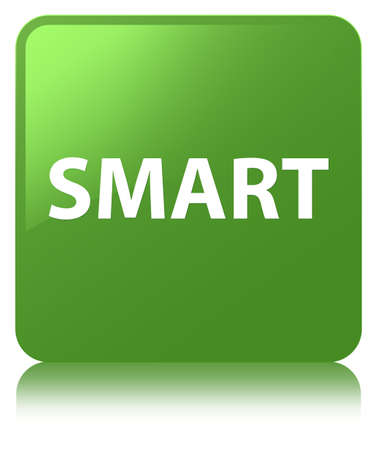 Smart isolated on soft green square button reflected abstract illustration Imagens