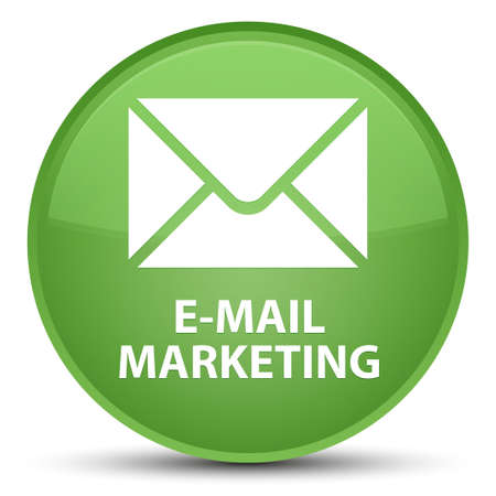E-mail marketing isolated on special soft green round button abstract illustration