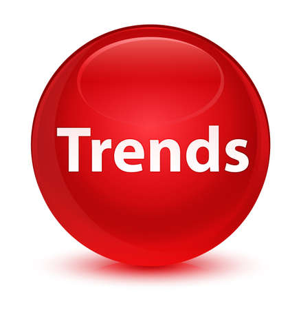 Trends isolated on glassy red round button abstract illustration