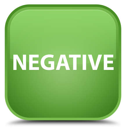 Negative isolated on special soft green square button abstract illustration