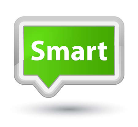 Smart isolated on prime soft green banner button abstract illustration Imagens - 89592327