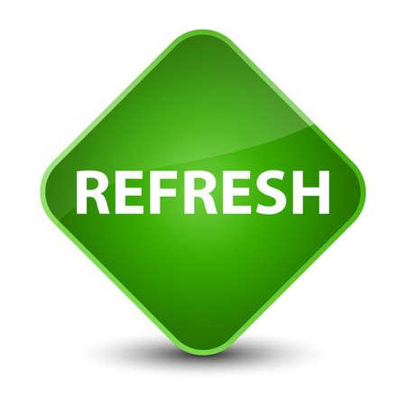 Refresh isolated on elegant green diamond button abstract illustration