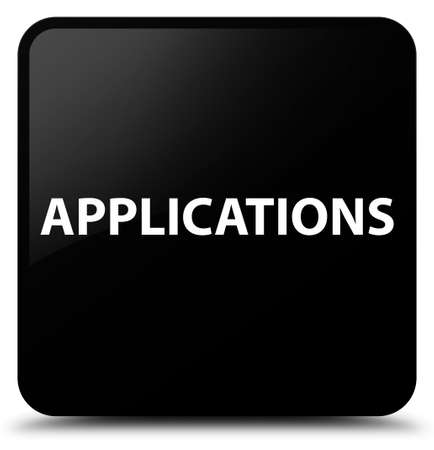Applications isolated on black square button abstract illustration