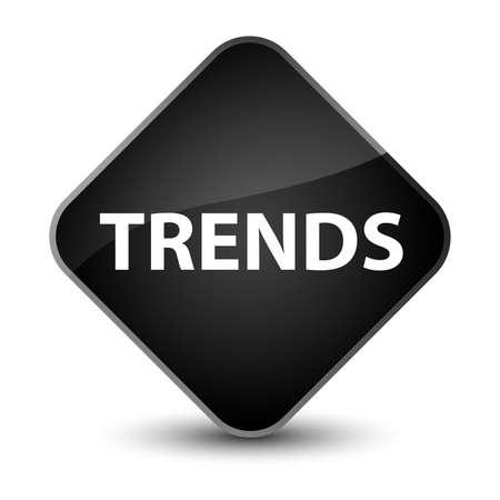 Trends isolated on elegant black diamond button abstract illustration