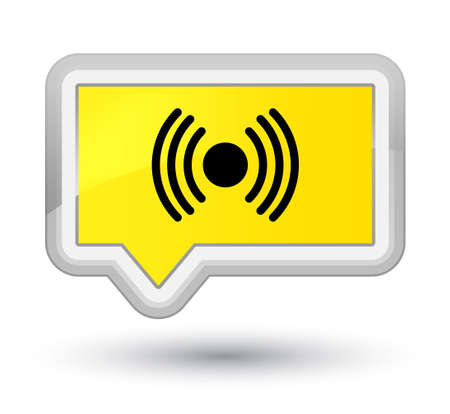 Network signal icon isolated on prime yellow banner button abstract illustration Stock Photo