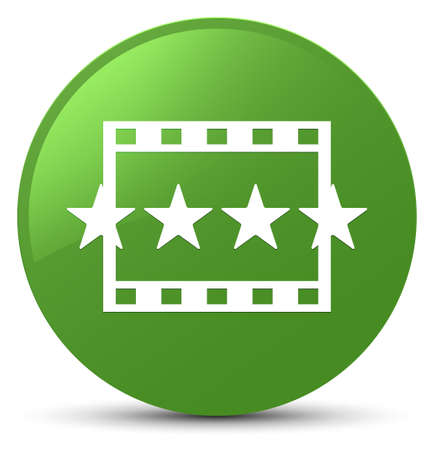 Movie reviews icon isolated on soft green round button abstract illustration