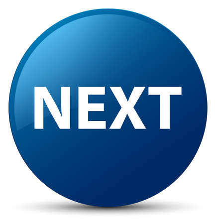 Next isolated on blue round button abstract illustration