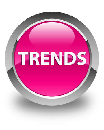 Trends isolated on glossy pink round button abstract illustration 스톡 콘텐츠