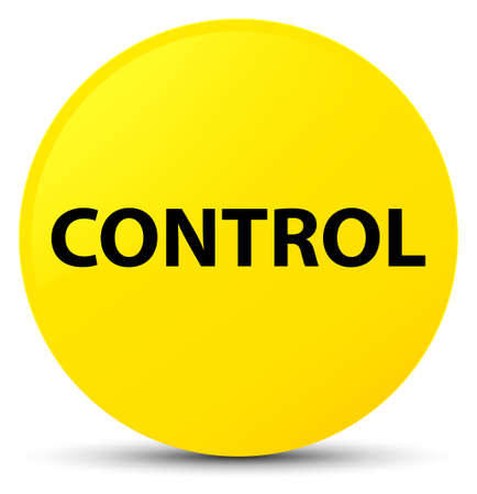 Control isolated on yellow round button abstract illustration