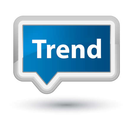 Trend isolated on prime blue banner button abstract illustration 스톡 콘텐츠