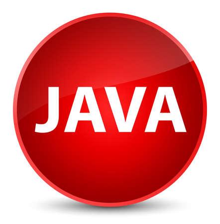 エレガントな赤い丸いボタンの抽象的なイラストに隔離されたJava